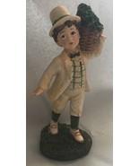 St Patrick's Day Irish Boy Statue Figurine Green Luck Clover shamrock - $9.95