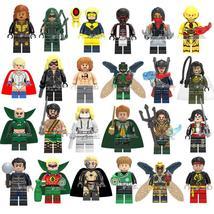 24pcs SuperHero Marvel DC Aquaman Arrow Vixen Mister Terrific Minifigures Legot - $34.45