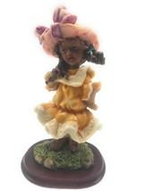 Vintage Girl with Orange Dress figurine - $21.84