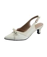 PEERAGE Sammy Women's Wide Width Slingback Low Heel Leather Dress Shoes - $89.95