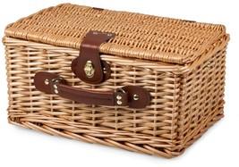Picnic Basket English style ceramic plates Glasses wicker travel lunch box - $1.189,95 MXN