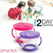 Toddler Snack Cup 2Pcs Spill-Proof Food Container Soft Flaps 12+Months C... - $6.92