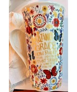 Pfaltzgraff Amazing Grace Latte Mug New Gift Coffee Butterfly Flowers 18... - £10.46 GBP