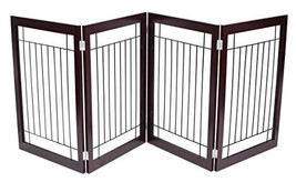 Internet's Best Traditional Wire Dog Gate - 4 Panel - 30 Inch Tall Pet P... - $108.30