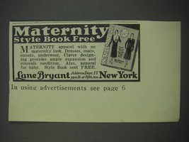1930 Lane Bryant Ad - Maternity style book free - $14.99