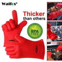 BBQ Cooking Heat Resistant Gloves Oven Silicone Grill Kitchen Mitts Pot ... - $15.52