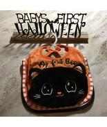 Baby's First Halloween Metal Standing Sign 3 Bibs Spooky Bats Holiday Ki... - $39.99