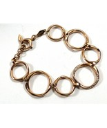 Fossil Classic Stainless Steel in Rose Gold Crystal accent link Bracelet - $74.25