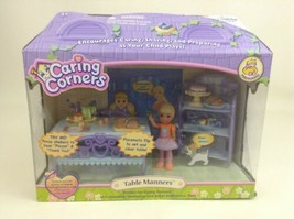 Caring Corners Doll Playset Table Manners Girl Figure Food Learning Curv... - $69.25