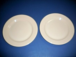 HOMER LAUGHLIN BEST CHINA RESTAURANT WARE SET OF 2 DINNER PLATES IN BEIGE  - $9.41