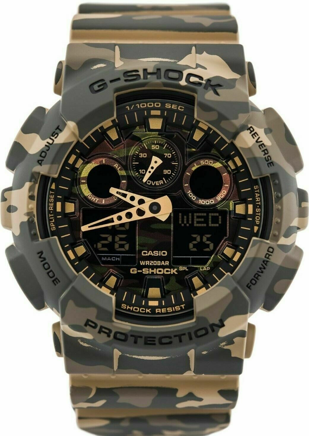 Primary image for New Casio G-shock GA-100CM-5A Analog Digital Resin Band Watch