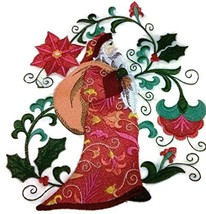 Merry Christmas [Suzani Santa Claus] Embroidered Iron on/Sew patch [5.86... - $19.79