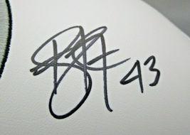 TROY POLAMALU / AUTOGRAPHED PITTSBURGH STEELERS LOGO WHITE PANEL FOOTBALL / COA image 3