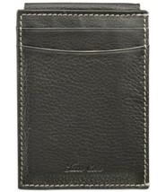 Tasso Elba Men's Naked Milled Card Case (Black, 2.75″x3.93″x0.71″) - $37.20 CAD
