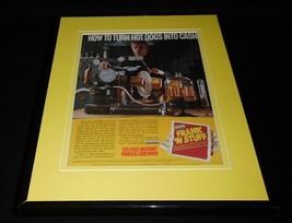 1987 Frank N Stuff Hog Dogs ORIGINAL Framed 11x14 Advertisement Frankens... - $32.36