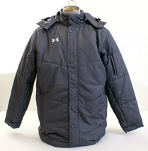 Under Armour Gray UA Infrared Elevate Long Zip Front Hooded Jacket Men's... - $149.99