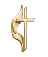 14K Gold Methodist Cross Lapel Pin - $153.99+