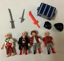 Lot of Vintage Geobra Playmobil Pirates and Treasure Chest from the 1990s - $22.24