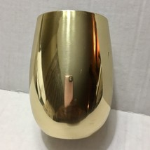 New Tumbler 18 Oz Stainless Steel Gold Shiny Barware Wine Bar Stemless - $15.07