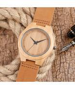 Watch Wooden Handmade Quartz Wood Natural Men Watches Gift Casual Date - $36.99