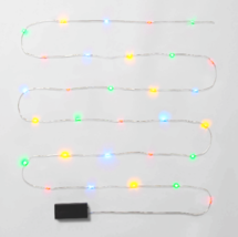 Phillips Twinkling 30 ct Battery powered Multicolored Dew Drop Christmas Lights image 2