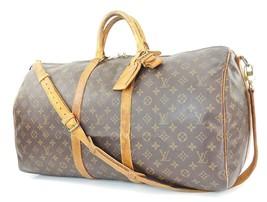 Auth LOUIS VUITTON Keepall Bandouliere 55 Monogram Canvas Duffel Bag #32920 - $459.00