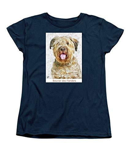 Primary image for Pieter - Bouvier Des Flanders - Women's T-Shirt (Standard Fit) - Navy/XLarge