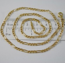 SOLID 18K YELLOW GOLD CHAIN NECKLACE WITH ALTERNATE LINK, MADE IN ITALY image 1
