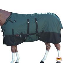 """84"""" Hilason 1200D Winter Waterproof Poly Horse Blanket Belly Wrap Green U-L-84 - $84.99"""