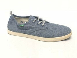 Sanuk Guide TX Lace Up Loafers 1014122 Blue Chambray Slip On Men's Shoes 1014122 - $39.99