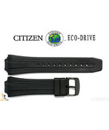 Citizen Eco-Drive E168-S080118 Black Rubber Watch Band Strap - $74.95