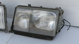 86-93 Mercedes W124 260E 300E 300D 300TE 400E Euro E-Code Headlight Lamps Set LR image 2