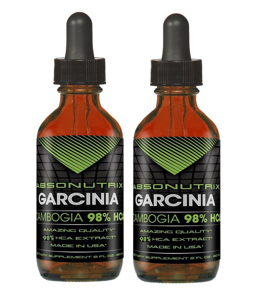 Absonutrix Naturale Integratore Garcinia Cambogia 98% Hca Gocce 59ml (Pack di 2) - $24.95
