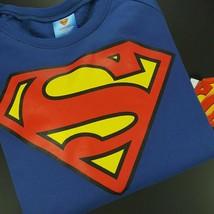 DC Comics Superman Womens Sweatshirt Size Medium Juniors Blue Red Yellow - $14.18
