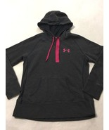 Under Armour XS Extra Small Charcoal Gray Raspberry Pink Storm Hoodie Sw... - $17.09