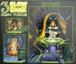 Sethanon Wizard Dragon Don Maitz Glow in Dark 3 in 1 Jigsaw Puzzle New i... - $26.68
