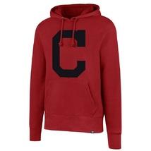 "Cleveland Indians Men's MLB Red Headline ""C"" Logo Pullover Hoodie '47 Brand"