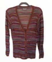 Missoni Sport Womens Multi Color Chevron Cardigan Sweater EU 42 US 6 - $84.15
