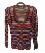 Missoni Sport Womens Multi Color Chevron Cardigan Sweater EU 42 US 6 - $84.15