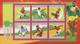 Soccer Sport African Cup Souvenir Sheet of 6 stamps Mint NH - $14.91