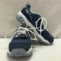 WOMENS SKECHERS MADE TO LAST FOR WORK STEEL TOE SNEAKERS - BLUE SIZE 8 - $54.94