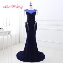 New Velvet Mermaid Beading Evening Dresses Formal Party Prom Bridal Gown... - $42.65+