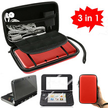 3 in 1 Carrying Bag+Clear Case Cover+Screen Protector for New Nintendo 3... - $31.90