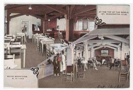 Mt Washington Club Interior White Mountains New Hampshire 1938 postcard - $6.44
