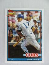 Mark Grace Chicago Cubs 1991 Topps Baseball Card 520 - $0.98