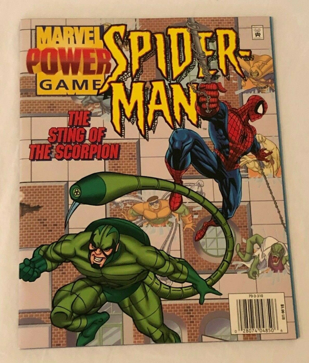 Primary image for Marvel Power Game Book Spider-Man Sting of the Scorpion 1996 Comic Magazine
