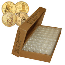 250 Direct Fit Airtight 26mm Coin Holder Capsules For PRESIDENTIAL $1 /S... - $59.35