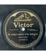 Steve Porter Irish Folk Comedy Mr Dooleys Address Suffragists Victor 78 ... - $42.75