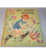 Vintage Little Golden Book My First Book No 10 1942 P Printing - $29.95