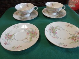 Theodore Haviland China New York Apple Blossom 2 Cups & Saucers &2 Free Saucer - $13.57